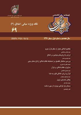 فصلنامه پژوهش های قرآنی شماره 69؛ بهار1391